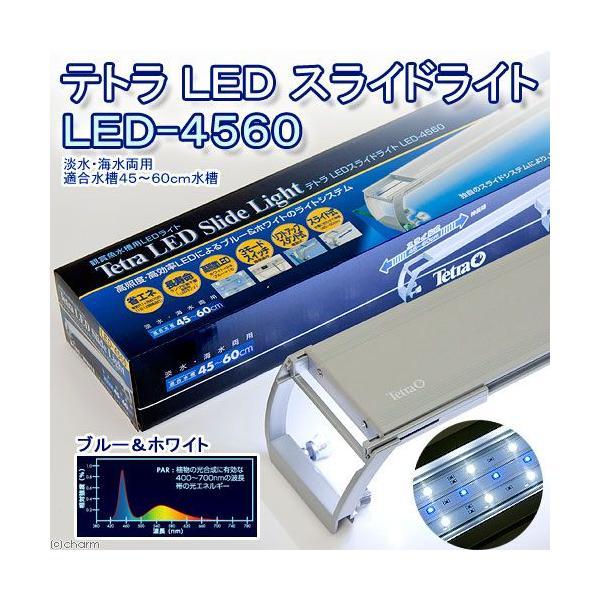 テトラ LEDスライドライト LED−4560 45cm水槽用照明 熱帯魚 水草 アクアリウムライト 関東当日便|chanet