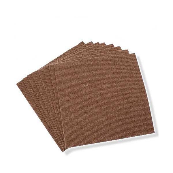 サンコー おくだけ吸着 撥水タイルマット 30×30cm ブラウン 8枚入 犬 介護 介護用品 マット 関東当日便|chanet
