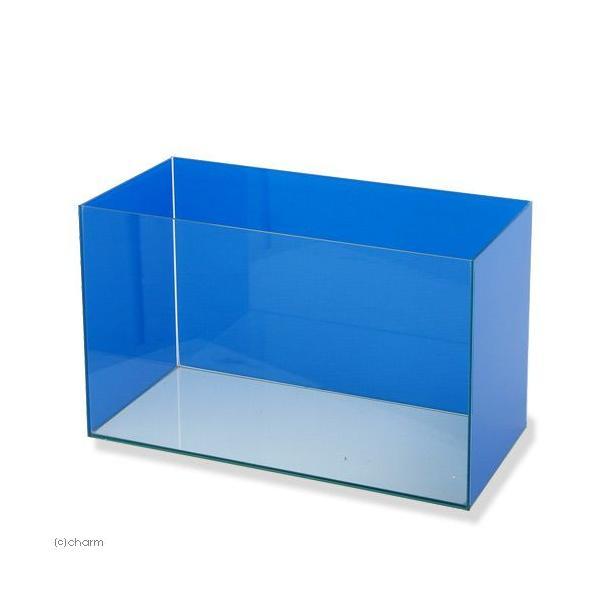 バックスクリーン貼付済 ブルー三面タイプ オールガラス60cm水槽 アクロ60N お一人様1点限り 沖縄別途送料