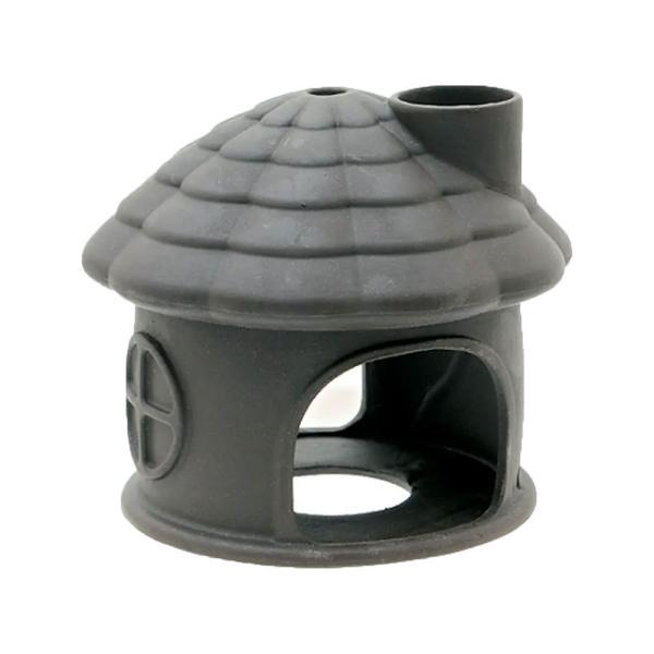 いぶきエアストーン 水中ハウス(煙突あり) ダーク 水槽用オブジェ アクアリウム用品 関東当日便|chanet