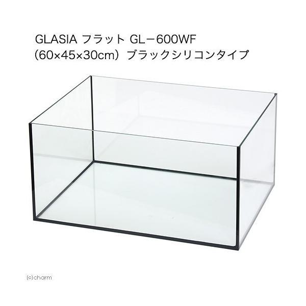 GLASIA フラット GL−600WF(60×45×30cm)ブラックシリコンタイプ お一人様1点限り 沖縄別途送料