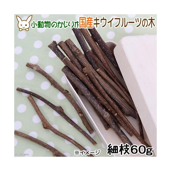 国産 キウイフルーツの木 細枝 60g かじり木 小動物・猫のおもちゃ