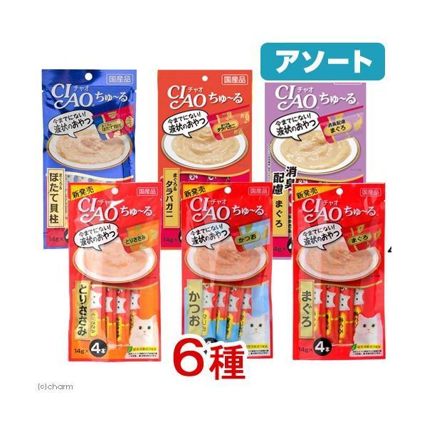 アソート CIAO(チャオ) ちゅーる 6種6個 Aセット 関東当日便|chanet