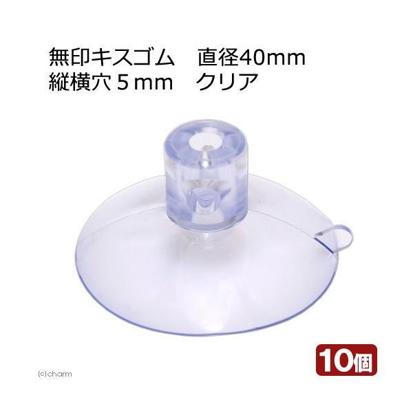 無印キスゴム 直径40mm 縦横穴5mm クリア 10ケ入 関東当日便|chanet