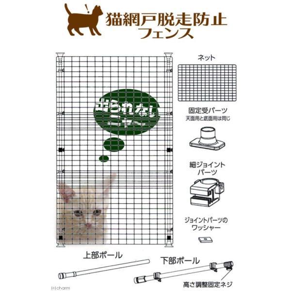 マルカン 猫網戸脱走防止フェンス S 猫 犬 フェンス 沖縄別途送料 関東当日便 chanet 03