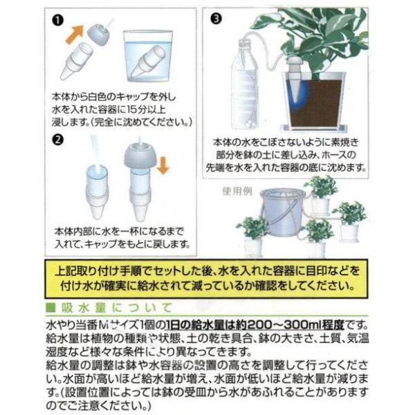 水やり当番 Mサイズ(2ヶ組)10個 留守 自動 水遣り器 関東当日便|chanet|04