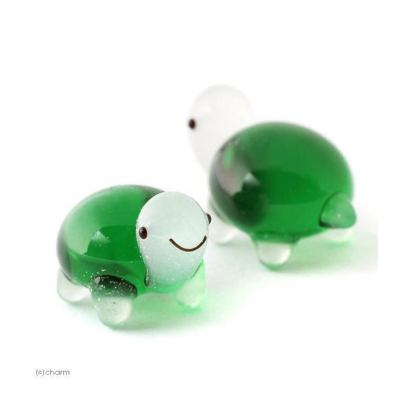 グラスコレクション プチシリーズ 「カメ(グリーン)」 1個 関東当日便|chanet