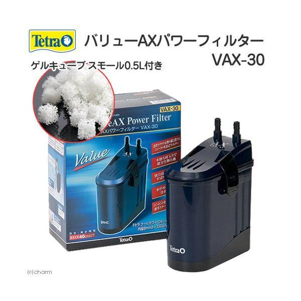 テトラ バリューAXパワーフィルター VAX−30 + ゲルキューブ スモール 0.5リットル 水槽用外部フィルター