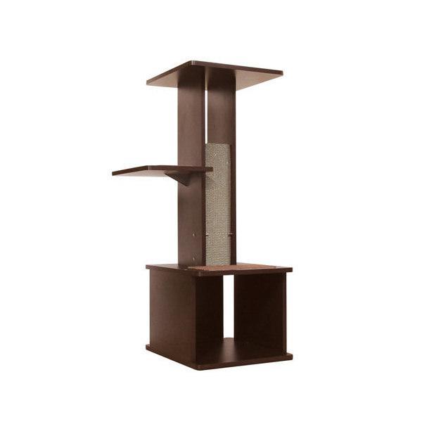 ペティオ necoco スリムで壁ぎわに置きやすい キャットリビングタワー(W52×D45×H107cm) 沖縄別途送料 petio_chanet