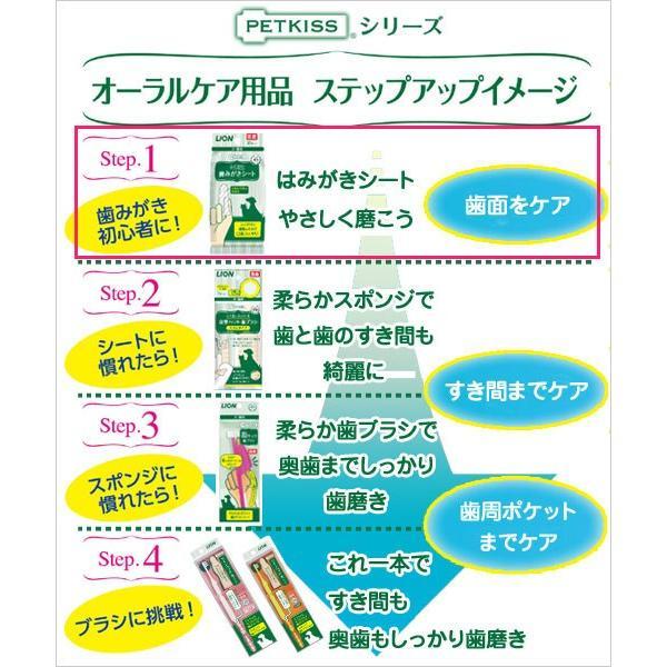 ライオン ペットキッス 歯みがきシート 犬・猫用 アップルの香り 30枚 関東当日便 chanet 04