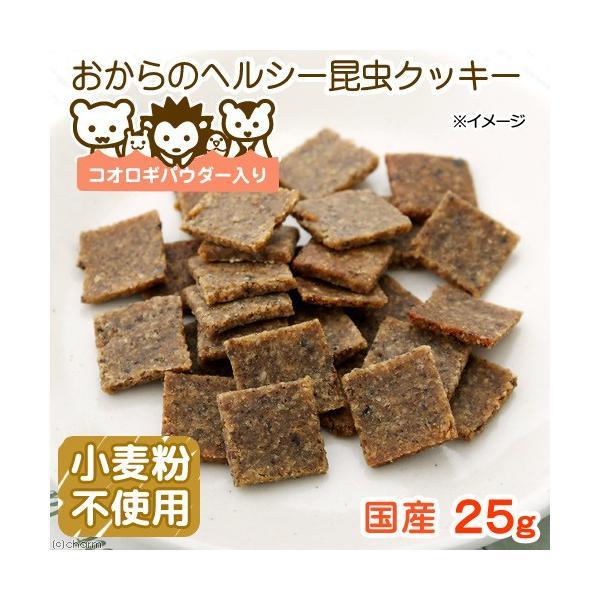 おからのヘルシー昆虫クッキー 25g タンパク質が必要な小動物用 ハムスター モモンガ ハリネズミ 無添加 無着色 小麦粉不使用