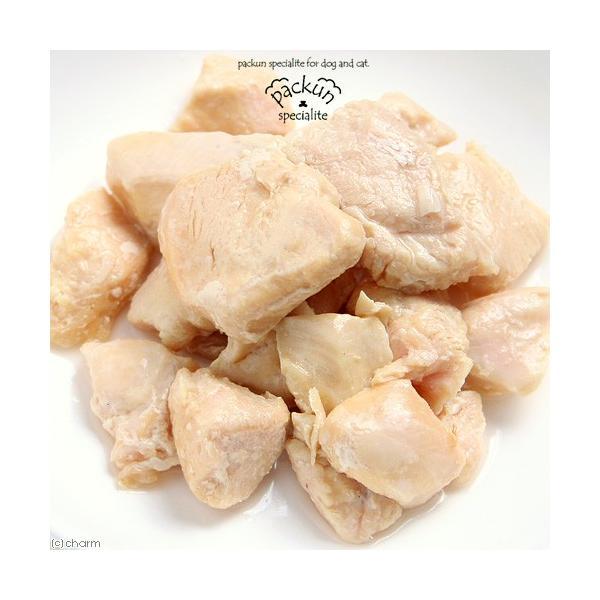 国産 鶏むね ひとくちカット 80g 無添加無着色レトルト 犬猫用 Packun Specialite|chanet|03