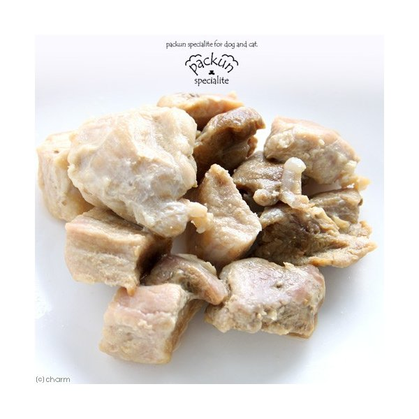 国産 豚もも ひとくちカット 60g 無添加 無着色 犬猫用 Packun Specialite|chanet|03