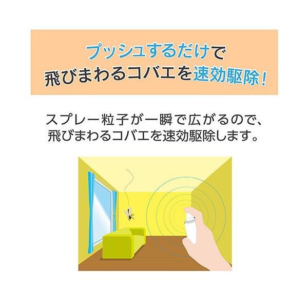 アースガーデン 飛びまわるコバエ退治 1プッシュ式スプレー 関東当日便|chanet|03