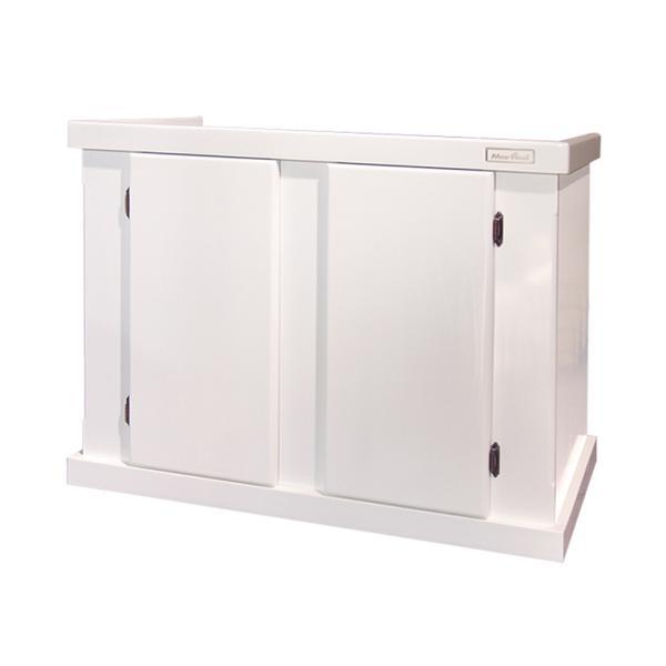 □メーカー直送 (組立済)水槽台 ウッドキャビ ホワイト 1200×450 120cm水槽用(キャビネット) 同梱不可・別途送料