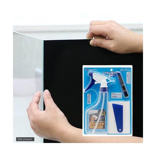 バックスクリーン ARTI(アルティ)30 ジェットブラック(35×50cm)+フィルム貼り道具セット