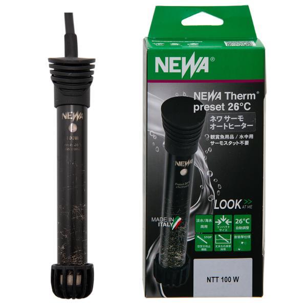 NEWA サーモオートヒーター 100W 26℃固定 〜60cm水槽以下用 通電確認機能付き