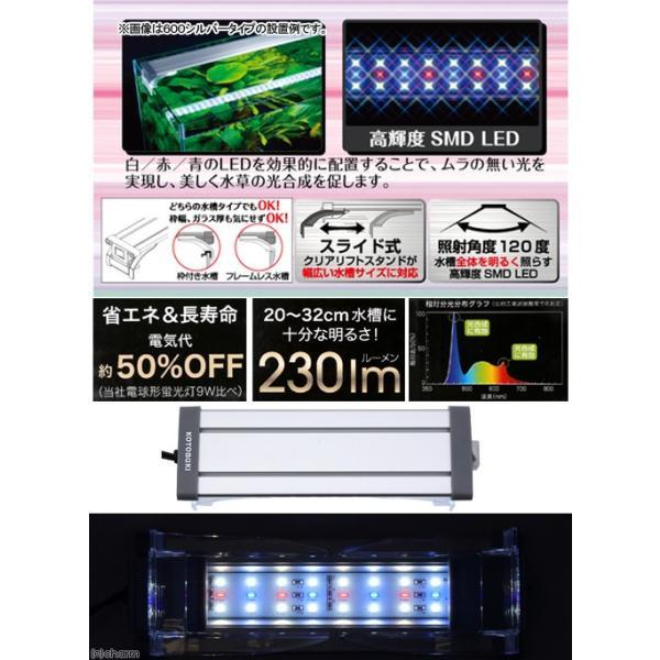 コトブキ工芸 kotobuki フラットLED 2032 シルバー 小型水槽用照明 ライト 熱帯魚 水草 アクアリウムライト 関東当日便|chanet|02