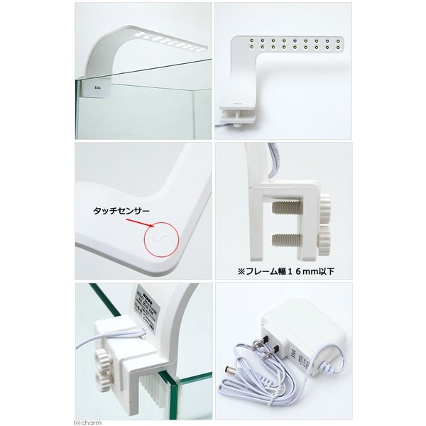 ニッソー LEDライトスマートタッチ300 ホワイト アクアリウムライト 関東当日便|chanet|02