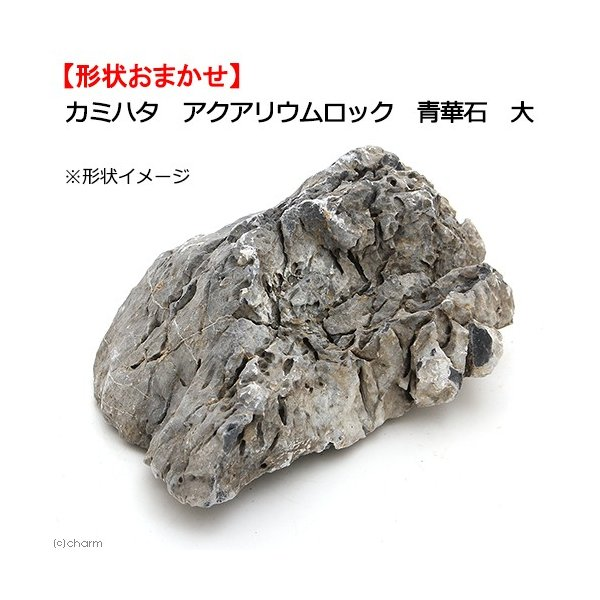 カミハタアクアリウムロック青華石大形状お任せ