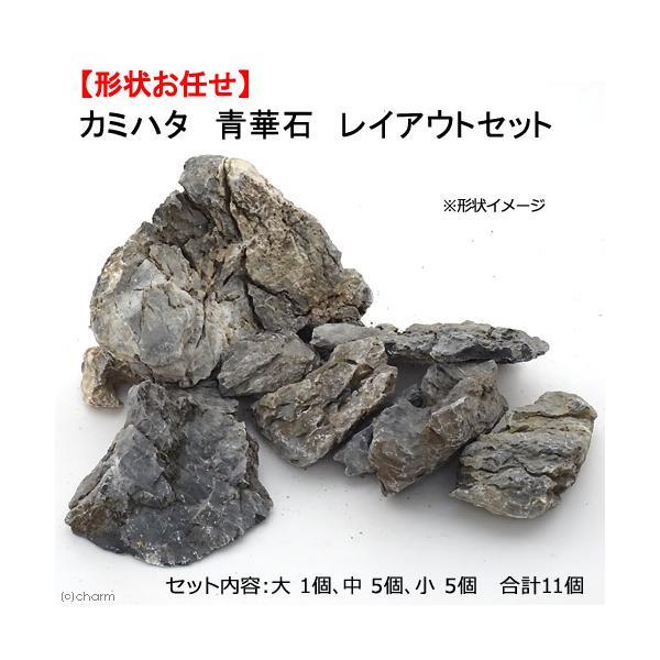 カミハタ青華石レイアウトセット45〜75cm水槽向け形状お任せ