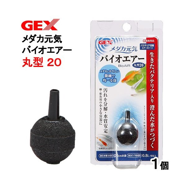 GEX メダカ元気 バイオエアー 丸型20 関東当日便|chanet
