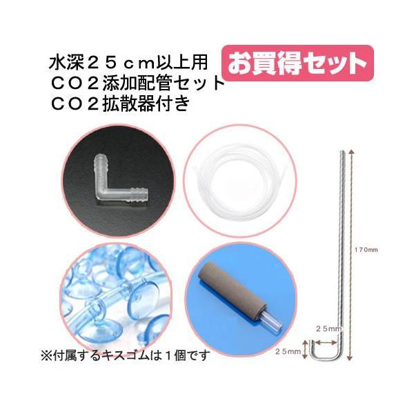 水深25cm以上用CO2添加配管セット CO2拡散器付き 関東当日便 chanet