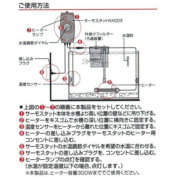 GEX セーフカバー SH300 サーモスタット NX003N セット ヒーター 熱帯魚 関東当日便|chanet|05