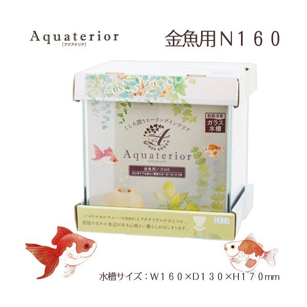 水作アクアテリア金魚用N160おしゃれ水槽アクアリウム用品お一人様5点限り