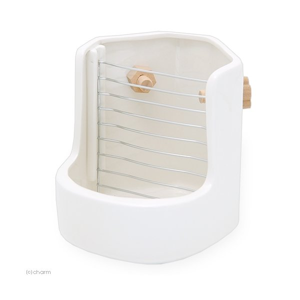  衛生的で丈夫な うさぎの陶器製食器 ウッドネジ2個付 セラミック うさぎ チンチラ モルモット