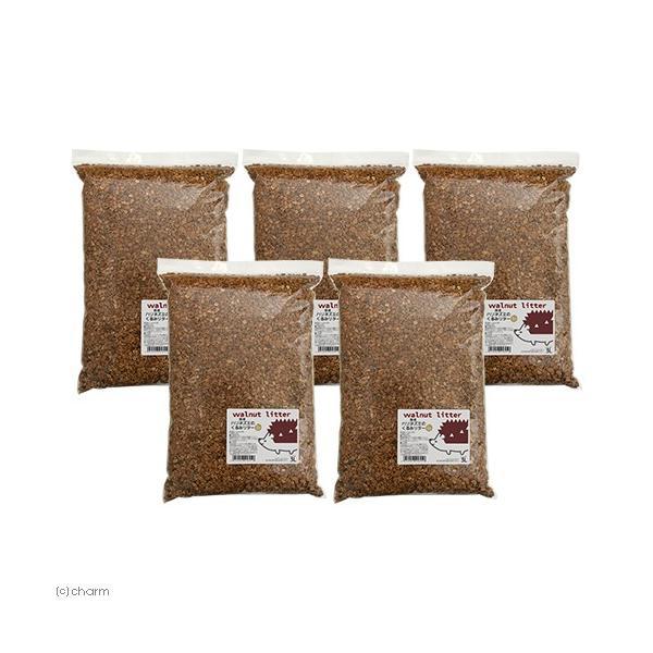国産 ハリネズミのくるみリター 15L(3L×5) 天然 消臭 敷材 床材 トイレ砂