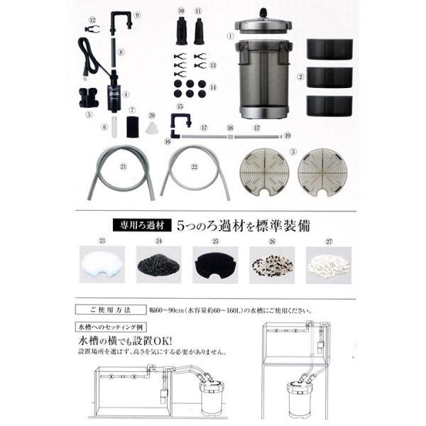 GEX メガパワー 6090 水槽用外部フィルター ジェックス 関東当日便|chanet|03