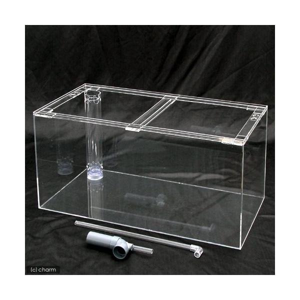 □メーカー直送 アクリル水槽 オーバーフロー透明3重管(90×45×45cm・板厚5×5×4mm) 同梱不可・別途送料