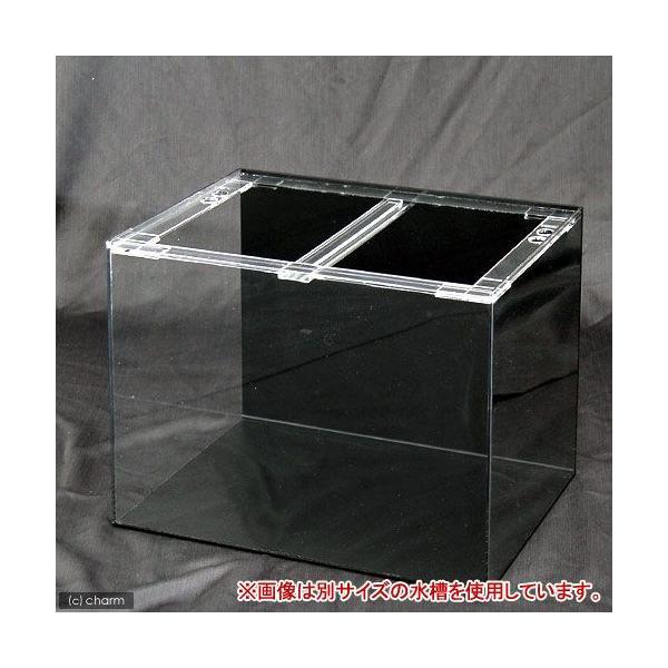 □メーカー直送 (受注生産)アクリル水槽 アクリルクリアタンク 底面・背面板黒(120×45×45cm) 同梱不可 別途送料