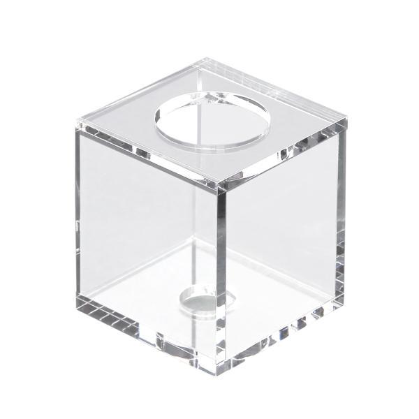 クリアボンベスタンド Cubic H80(幅7×奥行7×高さ8cm) 関東当日便|chanet
