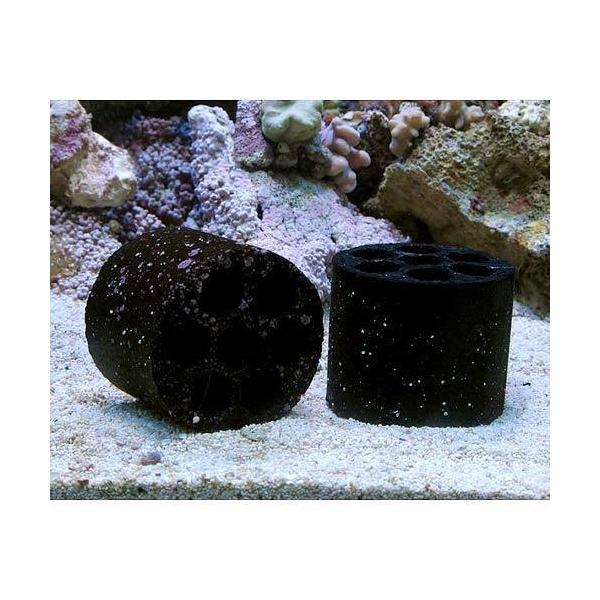 (海水魚 ろ材)海水用 多孔質シェルターろ材 HONEYCOMB(ハニカム)ブラック(バクテリア付き)1個|chanet|03