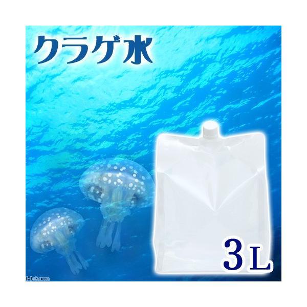 (海水魚)足し水くん 天然海水「クラゲ水」(海洋深層水) 3リットル クラゲ飼育 アクアリウム 航空便不可|chanet