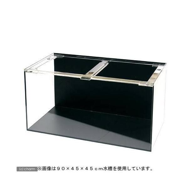 □メーカー直送 (受注生産)アクリル水槽2面ブラック(底・背面)寸法180×45×45cm 板厚10×10×8mm 同梱不可 別途送料