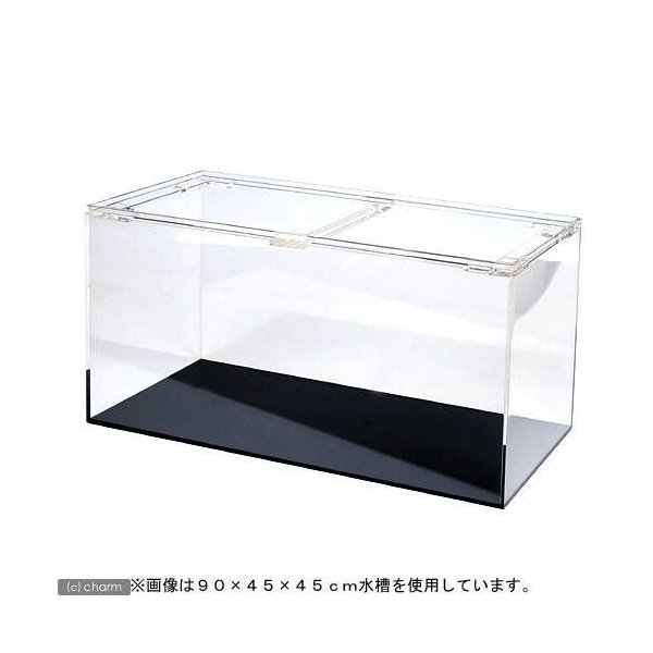 □メーカー直送 (受注生産)アクリル水槽1面ブラック(底)寸法120×60×60cm 板厚10×10×8mm 同梱不可 別途送料