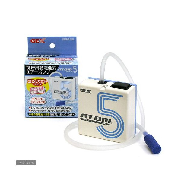GEX 携帯用乾電池式エアーポンプ ATOM.5(アトム5) ジェックス 関東当日便|chanet