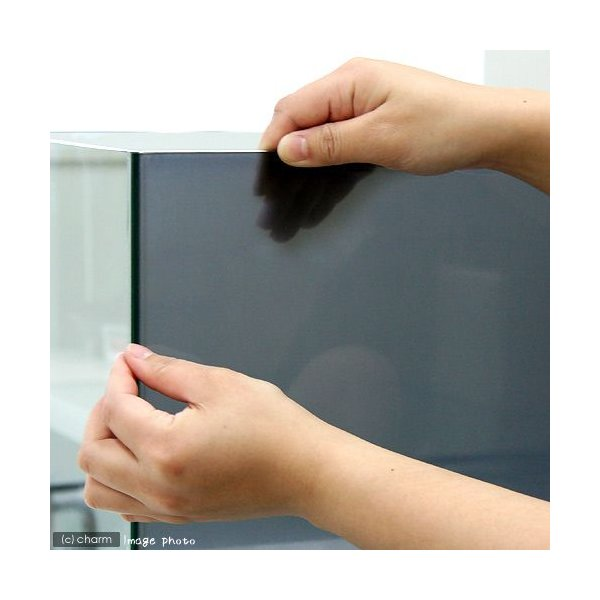 バックスクリーン ARTI(アルティ)30 クリアグレー(35×50cm)