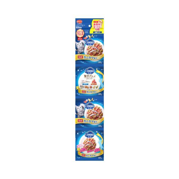 コンボ連パック 海の味わいメニュー カニカマ添え 160g(40g×4連) キャットフード 国産