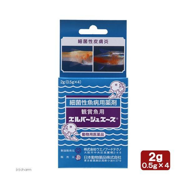 動物用医薬品 観賞魚用魚病薬 エルバージュエース 2g(0.5g×4包)