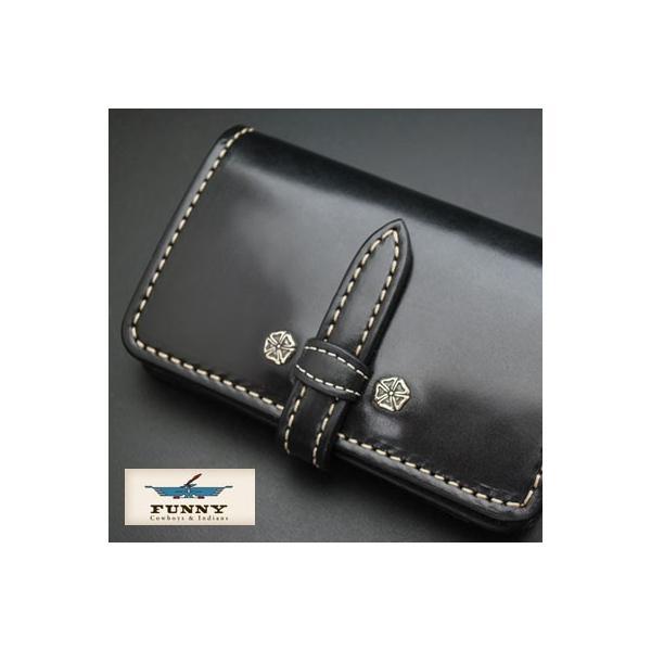 450abbb06151 FUNNY ファニー 財布 メンズ 二つ折り ウォレット ミディアムウォレット サンセットビルフォード・デール コードバン ブラック