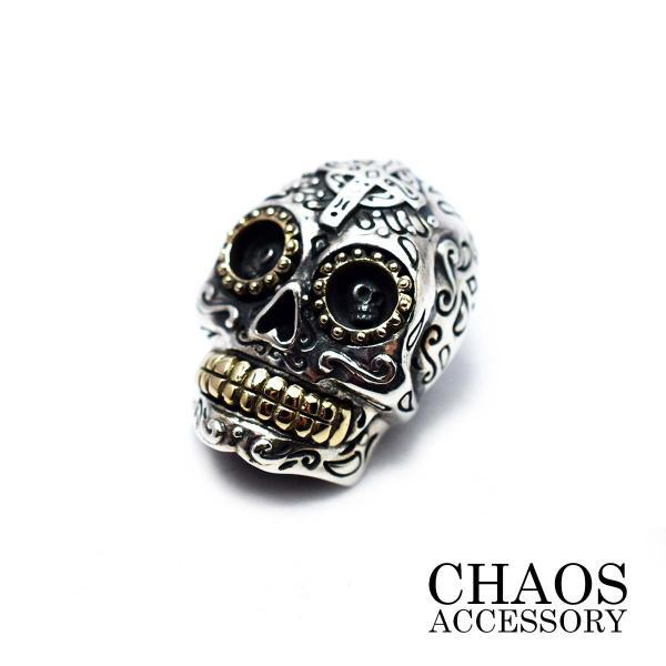 コンチョ  レザーウオレット 装飾 カスタム スターリングシルバーコンチョ MexicanSkull/メキシカンスカル シュガースカル Silver925 送料無料