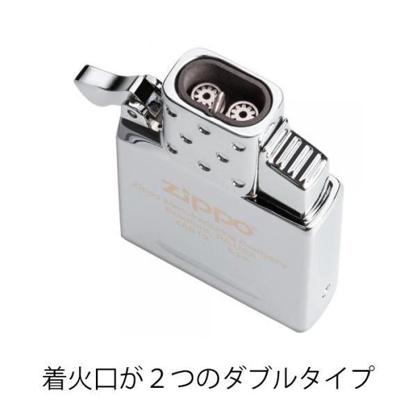 ZIPPO ジッポー ガスライターインサイドユニット ダブルトーチ(ガスなし) スターター 2点セット #200 送料無料