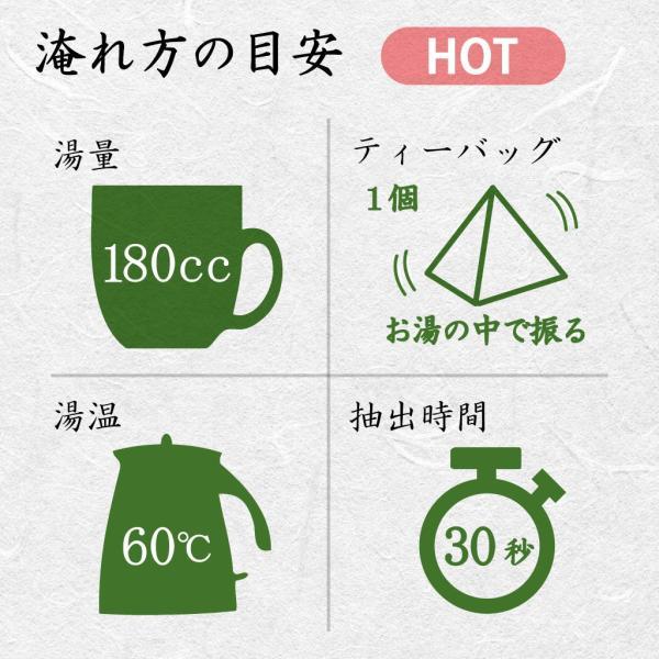 超深蒸し煎茶 品等:楽 ティーバッグ100g(5g×20コ) 水出しOK さわやか|chappaya-hamamatsu|03