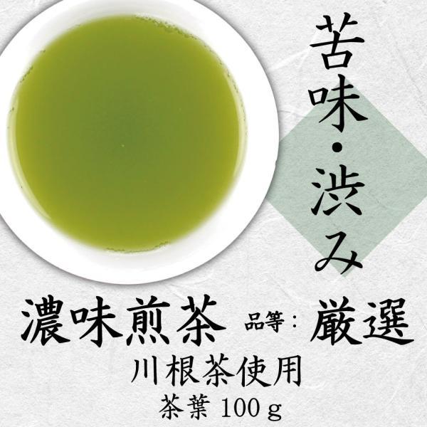 新茶 川根茶 品等:厳選 茶葉100g   深蒸し煎茶 深いコク|chappaya-hamamatsu