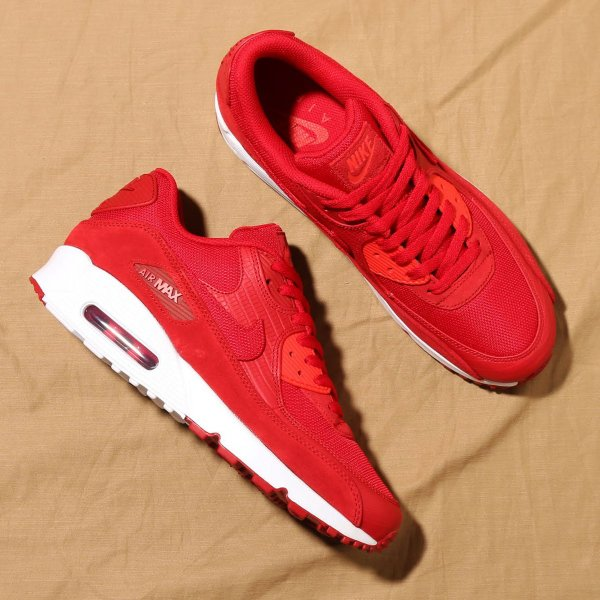 1fde8a5d5e9c6 NIKE AIR MAX 90 PREMIUM (GYM RED/GYM RED-WHITE-HABANERO RED) 18SU-S ...
