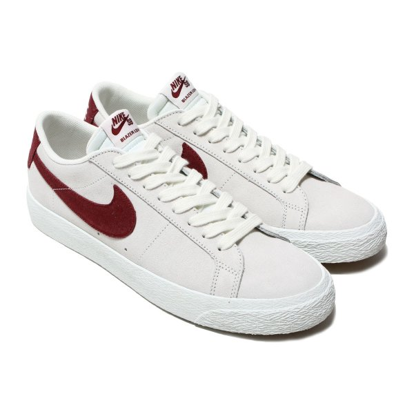 NIKE SB ZOOM BLAZER LOW (ナイキ ナイキSB ズーム ブレーザー ロー) SUMMIT WHITE/DARK TEAM RED 17SU-I|chapter-ex